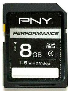 PNY-8GB-SDHC-Class-4-SD-Flash-Memory-Card-Camera-8-G-GB
