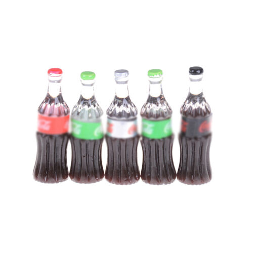 5PCS Mini Beer Drinks Milks Dollhouse Miniature Play Food for  s Doll Toy X