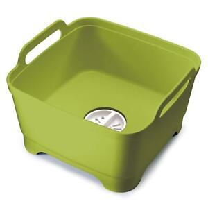 Joseph-Joseph-Wash-amp-Drain-Strain-Washing-Up-Sink-Bowl-w-Removeable-Plug-Green