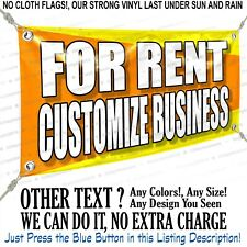 For Rent Customize Business Custom Vinyl Banner Personalized Outdoors Sign