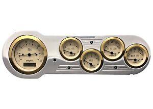 1953 1954 Chevy Car 5 Metric Gauge Dash Panel Instrument cluster Insert Set Whit