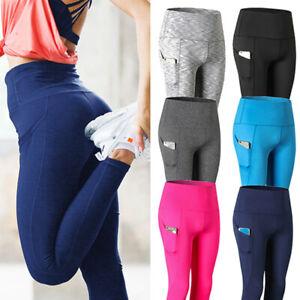 Womens-High-Waist-Yoga-Leggings-Pocket-Fitness-Sport-Gym-Workout-Athletic-Pants