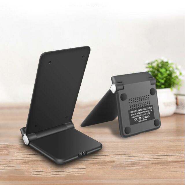 UK FDGAO Foldable Holder 15w Fast Qi Wireless Charger Stand Pad for iPhone 11pro