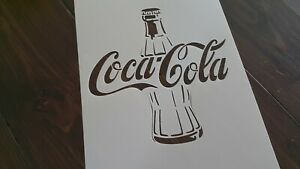 Coca-Cola-Bouteille-en-verre-Pochoir-Mur-Craft-A-faire-soi-meme-Peinture-Aerographe-Decoration-Logo