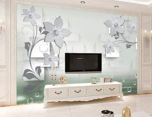 3D Bubbles  Flowers 87 Wall Paper Murals Wall Print Wall Wallpaper Mural AU Kyra
