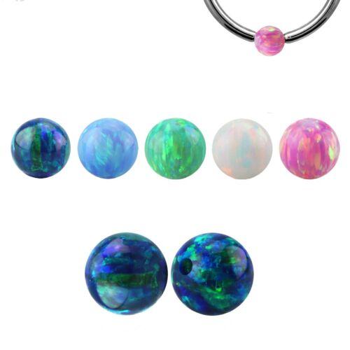 1,6 mm Ø Klemmkugel Piercingkugel synthetischer Opal Ersatz 1,2 mm Ball