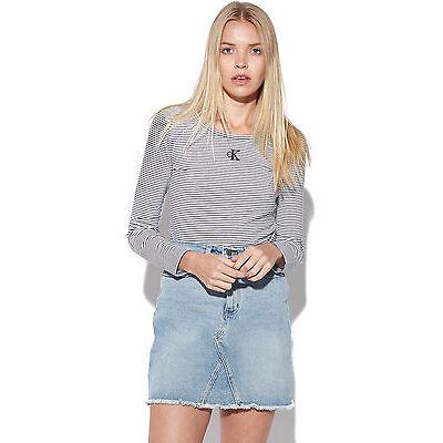 New CALVIN KLEIN Womens A line Skirt Pale Indigo