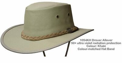 Barmah 1054GR Green Drover Allover Canvas Hat