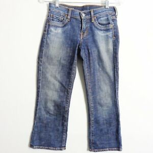 Citizens-Of-Humanity-Willow-Creek-098-Low-Waist-Crop-Jeans-Distressed-Size-24