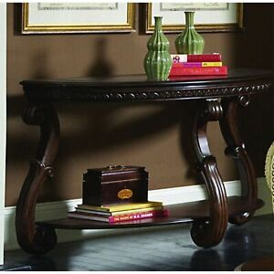 Wood Sofa Table With An Open Shelf