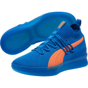 best service 6783b 8c6c9 Details about Puma Clyde Court Core Strong Blue Basketball Sneakers Free  Shipping