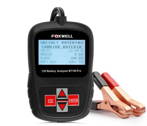 Foxwell BT100 PRO KFZ Batterietester 12V PKW Motorrad BT-100 Deutsches Menü