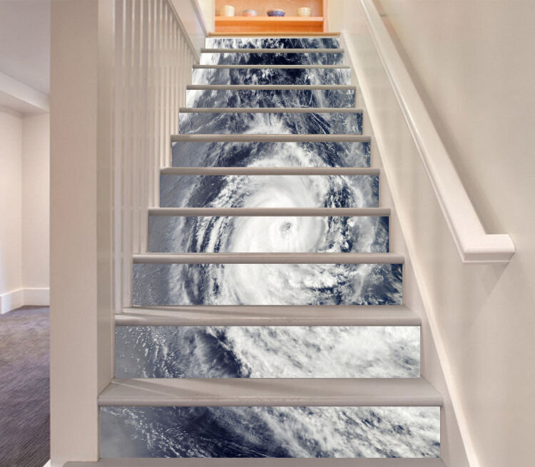 3D Swirling water Stair Risers Decoration Photo Mural Vinyl Decal Wallpaper AU