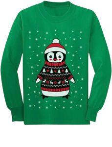 Cute-Christmas-Penguin-Ugly-Sweater-Toddler-Kids-Long-sleeve-T-Shirt-Boys