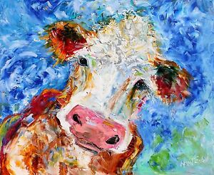 Cow Art Abstract