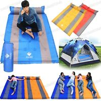 Premium Self Inflating Double Mattress Camping Hiking Airbed Mat Sleeping Bed
