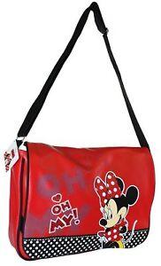 Madchen-438706B-Rot-Schulter-Tasche-von-Disney-Einzelhandel-Minnie-Maus