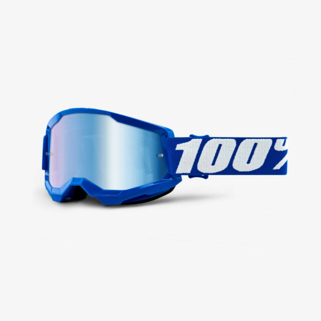 Offroad MX MTB Motocross ORANGE BLUE MIRROR LENS 100/% STRATA Goggles