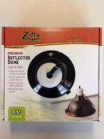 "Zilla Reptile Black 8 1/2"" Dome Heat Light Spring Mount Max Bulb 150 watt Lamp"