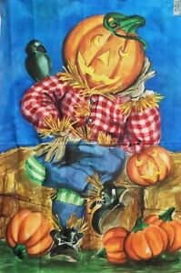 "Pumpkinhead Scarecrow Halloween Standard House Flag by Toland 24"" x 36"", #1137"