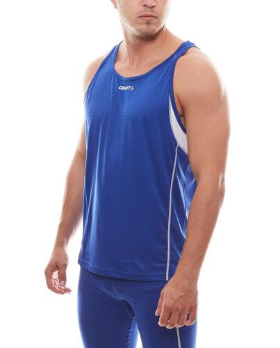 Craft Tank Top klassisches Herren Fitnessshirt Sportshirt T/&F Singlet Royal Blau