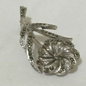 1950s-Marcasite-Brooch-Vintage-Retro-1950s-Floral-Flower-ST-Pin-Bridal-Wedding