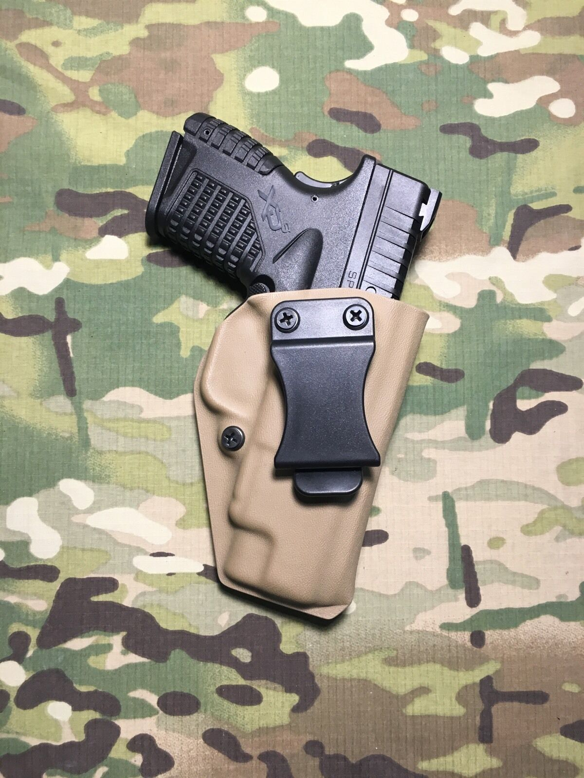 FDE Kydex IWB Holster XDS for Springfield XDS Holster 4.0 w/adj. Retention bc65cb