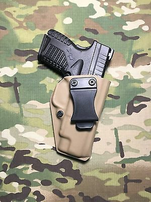 Fde Kydex Iwb Holster For Springfield Xds 4.0 W/adj Retention Hunting