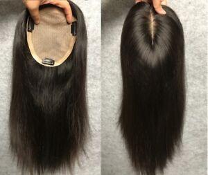 5-034-x6-034-human-hair-SILK-TOP-topper-fall-top-piece-hairpiece-half-wig-wiglet-8-034-16-034