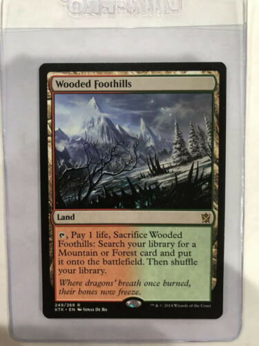 Excellent//Near MInt 4RCards Khans Of Tarkir 1 Wooded Foothills -X