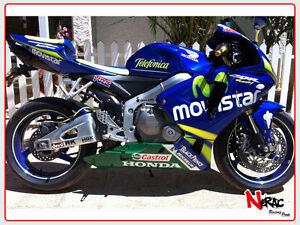 Detalles De Set Cascara Completo Abs Pintado Honda Cbr 600rr 2005 2006 Replica Movistar