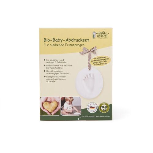 Bio-Baby-Abdruck Set für Hand-oder Fußabdruck Abdruck Set Grünspecht NEU!