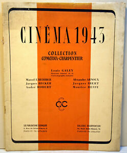 """"""" CINEMA 43 """"- COLLECTION COMOEDIA-CHARPENTIER - RARE  - 48 pages"""