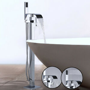 Free Standing Bathtub Faucet Tub Filler With Hand Shower Floor Mount