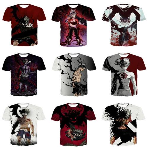 Anime Black Clover Harajuku Women Men T-Shirt 3D Print Short Sleeve Tee Tops