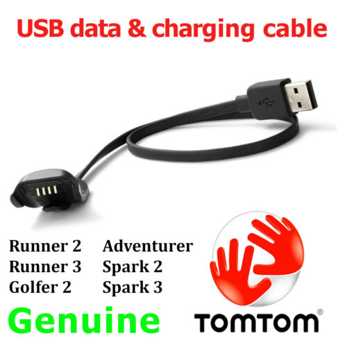 Genuino TomTom Runner 2 3 2 2 3 Spark golfista aventurero carga USB cable de datos