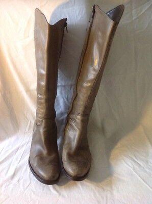 Manaslea FOSCATI Cuero Marrón rodilla alta botas talla 40