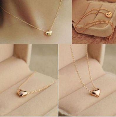 Fashion Women Gold Plated Heart Bib Statement Chain Pendant Necklace Jewelry
