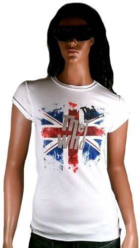 AMPLIFIED Official THE WHO Union Jack Vintage Rock Star ViP T-Shirt g.XS