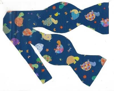 Pre-tied Bow tie Colorful Turtles Dressed in Plaid Turtle Bow tie