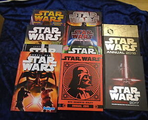 10-STAR-WARS-ANNUALS-by-VARIOUS-AUTHORS-UK-FREE-POST-HARDBACKS