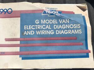 1990 Chevrolet G Van G10 G20 Sportvan Electrical Wiring Diagrams Service Manual Ebay