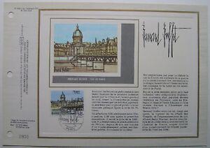 BERNARD-BUFFET-Feuillet-CEF-Timbre-1er-jour-SOIE-1978
