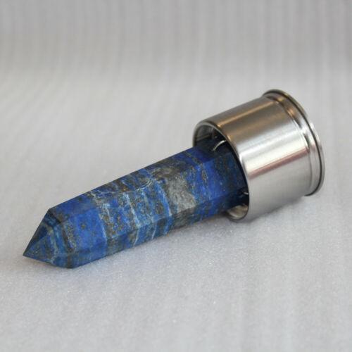 Natural Crystal Point Healing Obelisk Wand Elixir Quartz Crystal Water Bottle