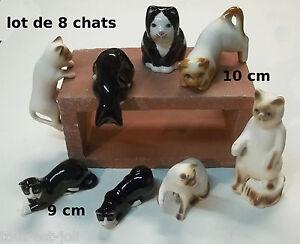 Lot De Huit Gros Chats En Céramique,collection,décoration, Revendeur,matou *g14 Zapwo1k8-07232709-764978052