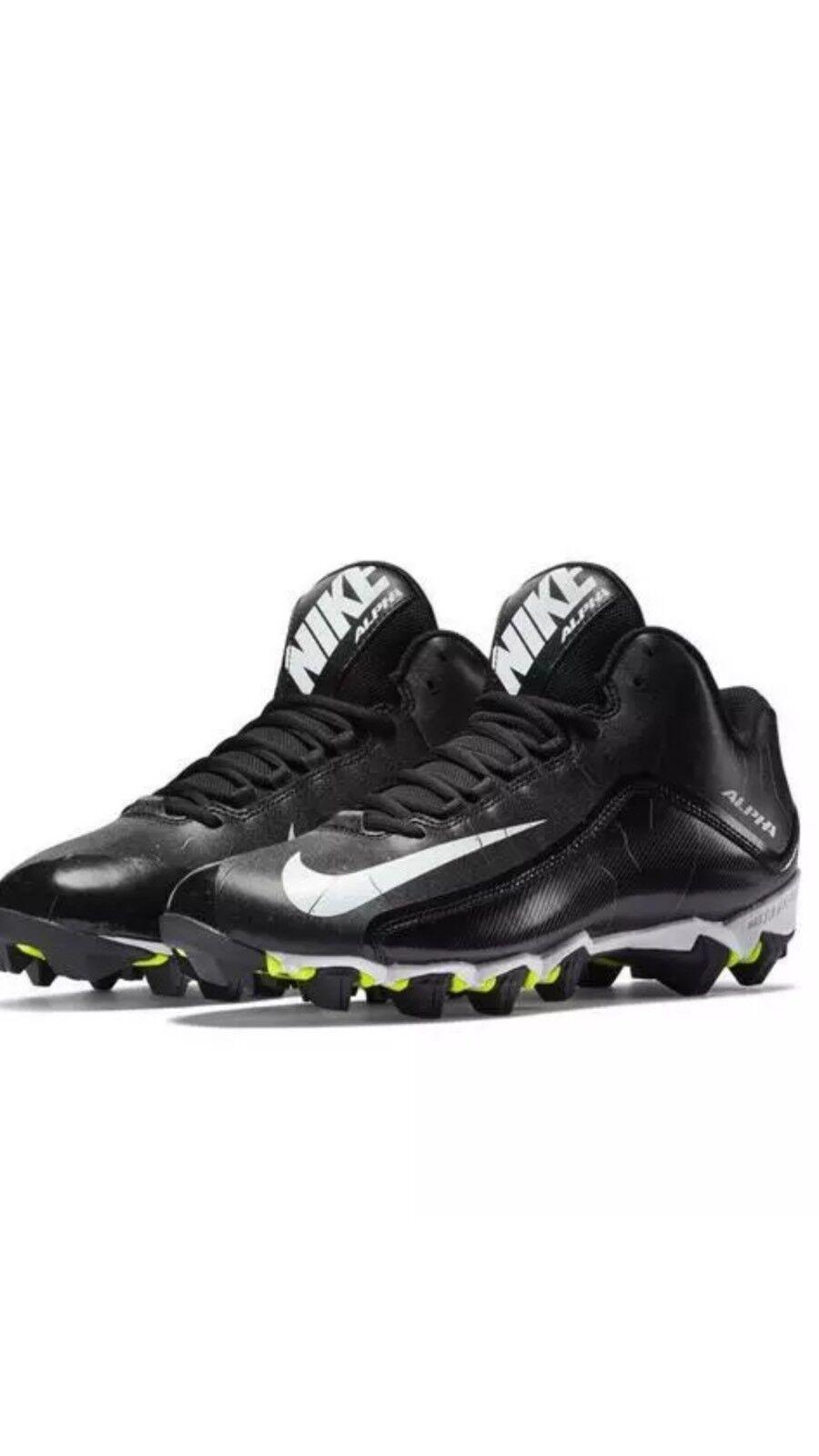 Nike Alpha football cleats size 11.5 black Seasonal price cuts, discount benefits