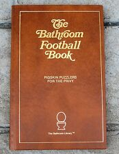 1990 Football Sports Trivia Book Bathroom NFL Football Book, Pigskin Puzzles