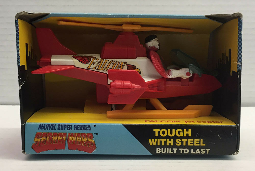 FALCON JET COPTER 9.0 MARVEL SECRET WARS SEALED BUDDY L 1985