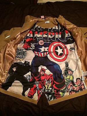 MARVEL CAPTAIN AMERICA COMIC LINED HOODED JACKET *Choose from Green or Brown*