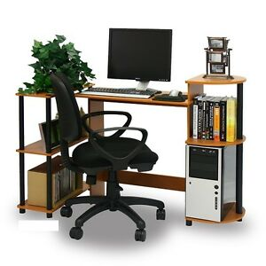 compact computer desk writing modern workstation home office furniture